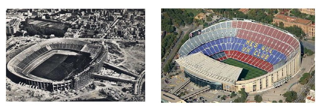 Stadiums then and now: Camp Nou