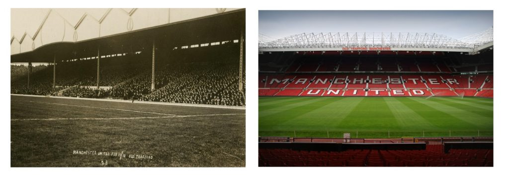 Stadiums then and now: Old Trafford