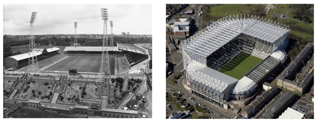 Stadiums then and now: St James' Park