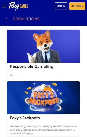 foxy games promotions